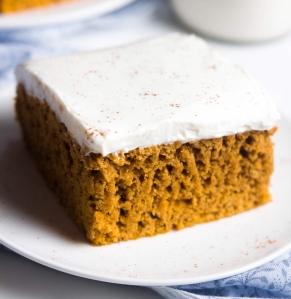 Pumpkin tray bake