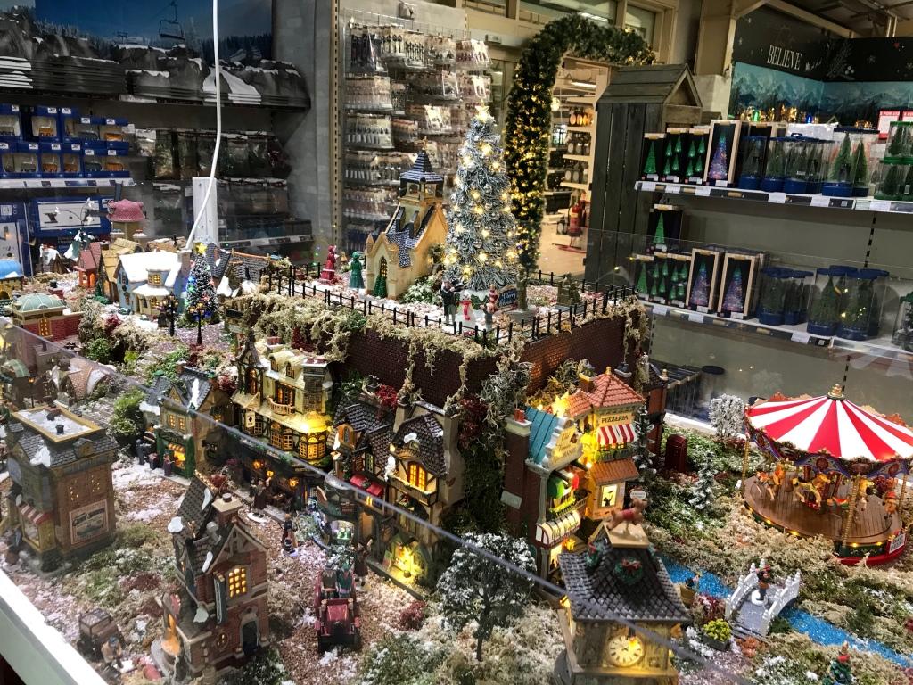 Christmas decorations lights festive display